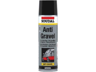 Soudal Anti-Gravel must 500ml Aerosoolis