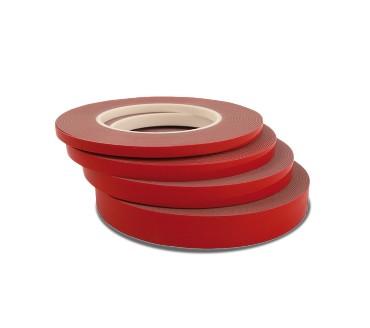 BossAuto Kahepoolne akrüülteip hsa 12mmx10m punane