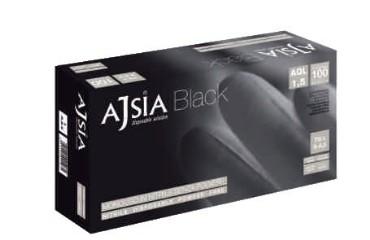 Ajsia Nitriilkinnas must, puudrita XL 100tk