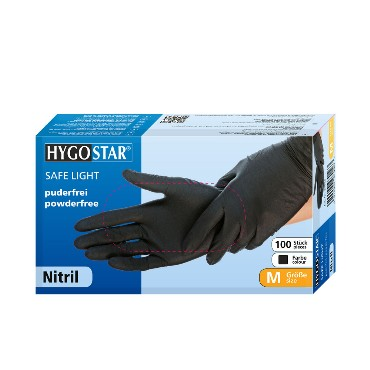 HygoStar nitriilkinnas must, puudrivaba XL 100tk