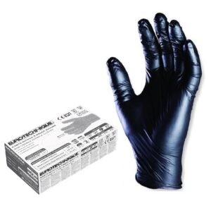 EUROTECHNIQUE mustad nitriilkindad, puudrita L 100tk